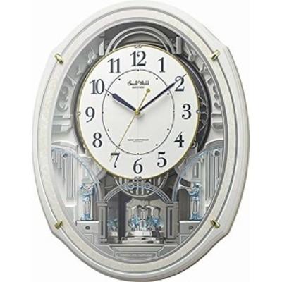 リズム(RHYTHM) 掛け時計 白 49.9x38.9x10.8cm 電波時計 からくり 48曲 童謡 クリスマス 他 リズム(RHYTHM) 4MN553RH03