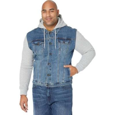 ジョニー ビッグ Johnny Bigg メンズ ジャケット 大きいサイズ Gジャン アウター Big & Tall Taylor Fleece Denim Jacket Sky