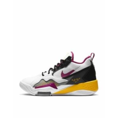 ジョーダン レディース スニーカー シューズ Nike Air Jordan Zoom '92 sneakers in white/black/cactus flower White