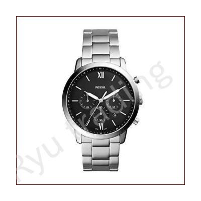 新品Fossil Men's Neutra Chronograph FS5384 Silver Stainless-Steel Japanese Quartz Fashion Watch