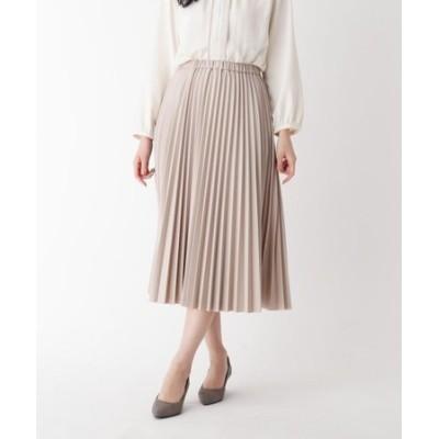【大きいサイズあり・13号】INNOWAVE シンセティックレザープリーツスカート
