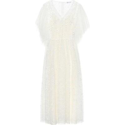 レッド ヴァレンティノ REDValentino レディース パーティードレス ワンピース・ドレス Crystal-embellished tulle gown Latte