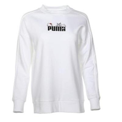 プーマ レディース パーカー・スウェット アウター Puma X Hello Kitty Crew PUMA White