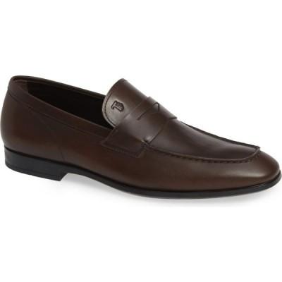 トッズ TOD'S メンズ ローファー シューズ・靴 Mocassino Penny Loafer Dark Brown