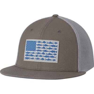 コロンビア Columbia ユニセックス キャップ 帽子 PFG Mesh Flat Brim Ballcap Titanium/Fish Flag