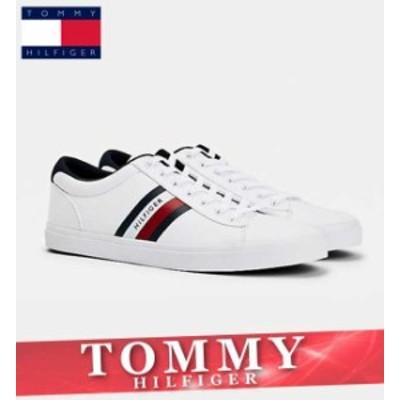 トミーヒルフィガー スニーカー シューズ メンズ ストライプ ロゴ コットン 靴 新作 TOMMY