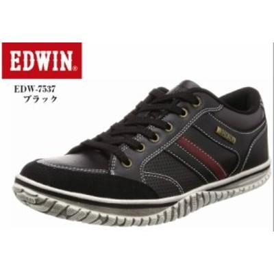 (エドウィン) EDWIN EDW-7537 メンズ カジュアルローカットスニーカー 重厚感のあるアウトソールが特徴ですが、軽量仕様となっておりヴィ