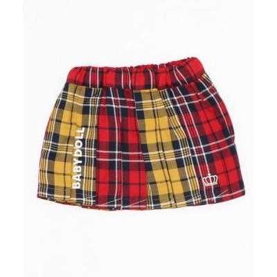 BABYDOLL / チェック柄スカート 4453K (トップス別売) KIDS スカート > デニムスカート