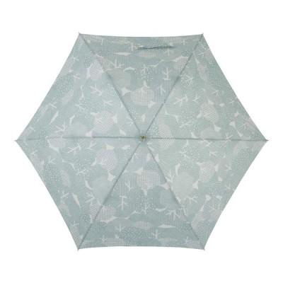 小川(Ogawa) 長傘 雨晴兼用雨傘 手開き 58cm 6本骨 teno?/Natural もりもりの森 UV加工 鳥型飾りボタン付き 9