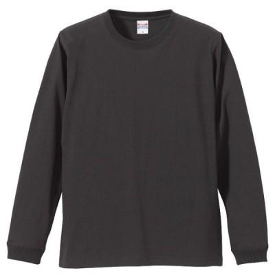 Tシャツ 長袖 メンズ ハイクオリティー リブ付 5.6oz M サイズ SUMI 無地 ユナイテッドアスレ CAB