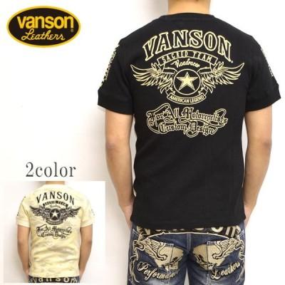 バンソン VANSON NVST-908 サーマル 半袖 Tシャツ フライングスター メンズ