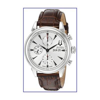 Bulova ブローバ 腕時計 メンズ 63C107 ジェミニアナログディスプレイ スイス自動 ブラウンウォッチ