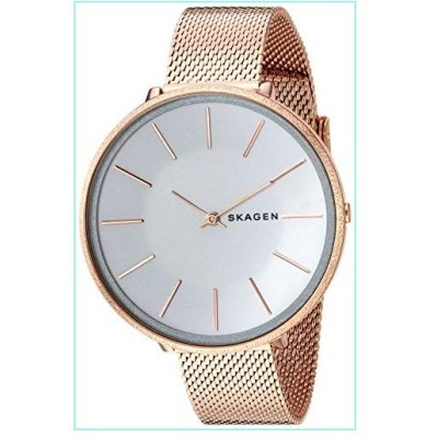 Skagen Women's Karolina Analog-Quartz Stainless-Steel-Plated Strap, Rose Gold, 14 Casual Watch (Model: SKW2726)【並行輸入品】