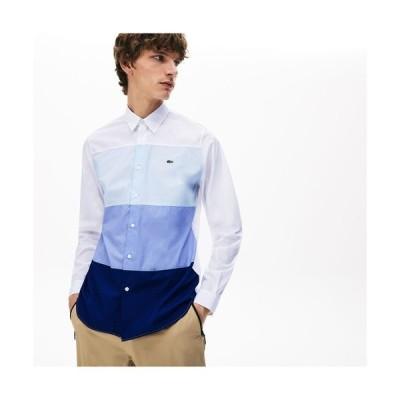 シャツ ブラウス レギュラーフィット グラデーションカラーブロックシャツ
