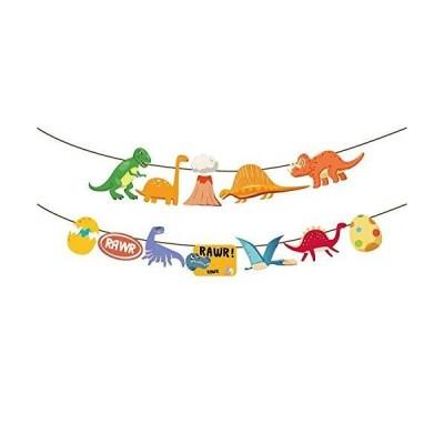 クリスティンパラダイス 恐竜バナー 恐竜パーティーサイン ジュラ紀の世界の誕生日デコレーション ティーレックス 男の子の女の子 ベビーシャワーテーマ用