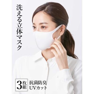 【大きいサイズ】【洗える】抗菌防臭3Dマスク(3枚セット) 大きいサイズ 雑貨 レディース
