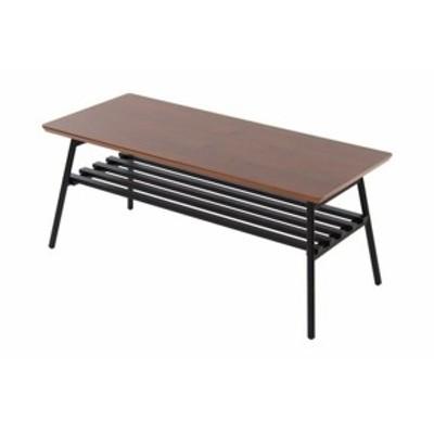 高さ39cmの折りたたみ脚:センターテーブル:ウオールナット突板の天板:BR色 高さ39cmの折り脚式:センターテーブル:ウオールナットBR