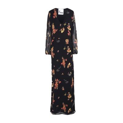 8PM ロングワンピース&ドレス ブラック XS 100% レーヨン ロングワンピース&ドレス