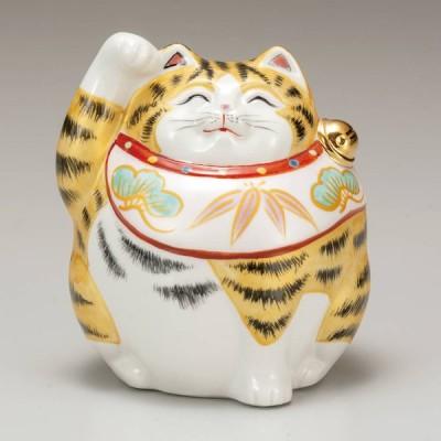 九谷焼 4号招き猫(右手金運招き猫)金彩K6-1498