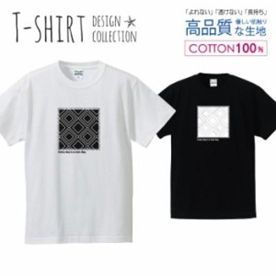 幾何学模様 Tシャツ メンズ サイズ S M L LL XL 半袖 綿 100% よれない 透けない 長持ち プリントtシャツ コットン