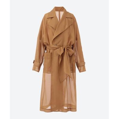 <PONTI(Women)/ポンティ> SHEER REVERSIBLE COAT Beige【三越伊勢丹/公式】