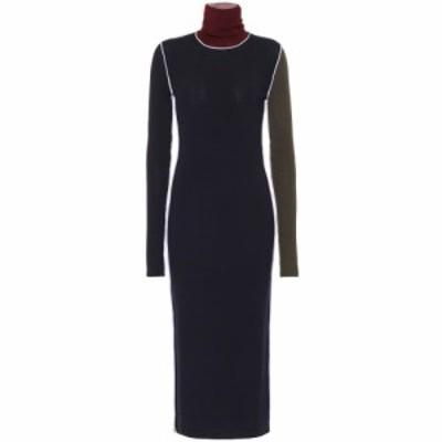 メゾン マルジェラ Maison Margiela レディース ワンピース ミドル丈 ワンピース・ドレス Wool ribbed-knit midi dress Multicolor