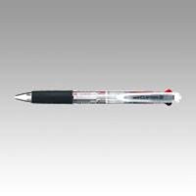 【メール便発送】三菱鉛筆 多色ボールペン クリフター 透明 SE2254.T 00065478 〔1本〕