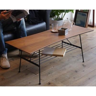 センターテーブル ローテーブル テーブル センターテーブル 幅100cm 天然木 ウォールナット  【】 t002-m048-atm-ctb
