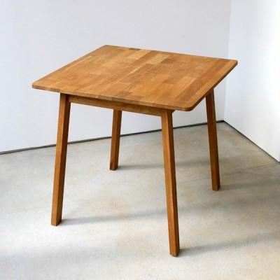 ダイニングテーブル 単品 オーク 木製 W75×D75(cm) 2名用 幅75cm 食卓 ファミリー 1人暮らし 2人暮らし 広々 テーブル 2名 MTS-087