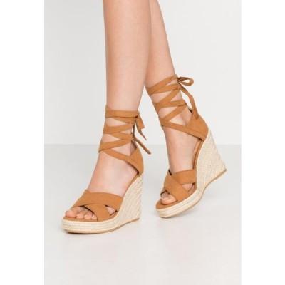 レディース サンダル High heeled sandals - cognac