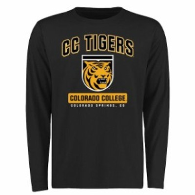 Fanatics Branded ファナティクス ブランド スポーツ用品  Colorado College Tigers Black Big & Tall Campus Icon Long Sleeve T-Shirt