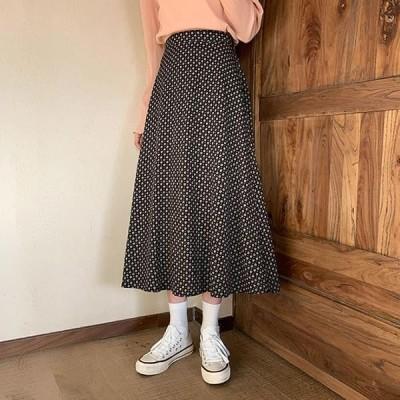 Wansmall レディース スカート sk0837 kenya dot flared skirt