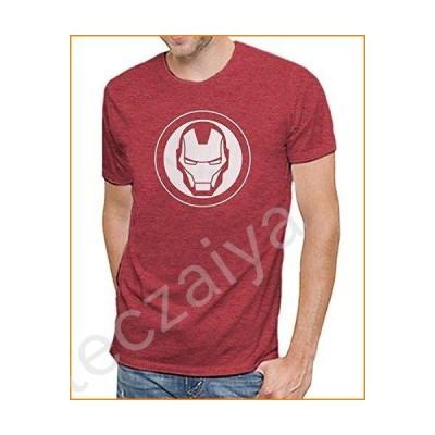 Marvel Iron Man Logo Men's Soft Red Heather T-Shirt (XL)並行輸入品
