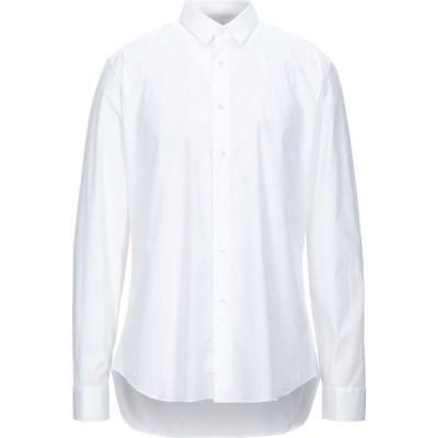 チェリーニ CELLINI メンズ シャツ トップス solid color shirt White