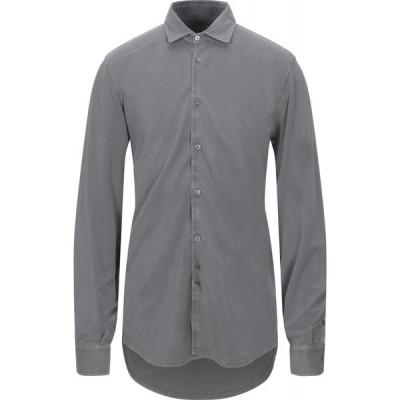 フェデーリ FEDELI メンズ シャツ トップス Solid Color Shirt Grey