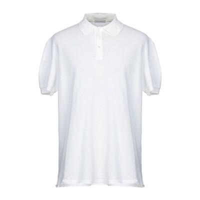 パオロ ペコラ PAOLO PECORA ポロシャツ ホワイト M コットン 100% ポロシャツ