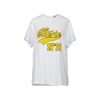 ヌメロ ヴェントゥーノ N°21 T シャツ ホワイト 44 100% コットン アセテート シルク T シャツ