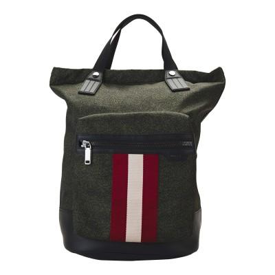 BALLY バックパック&ヒップバッグ ダークグリーン ナイロン / 革 / 紡績繊維 バックパック&ヒップバッグ