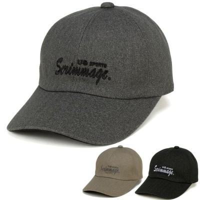 紳士 帽子 ヘリンボン キャップ 日本製 野球帽 刺繍 秋冬