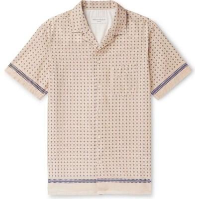 オフィシン ジェネラーレ OFFICINE GENERALE Paris 6e メンズ シャツ トップス patterned shirt Beige
