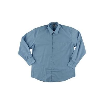 ドレスシャツ フォーマル 海外セレクション Gioberti 5196 メンズ ブルー 長袖 Tab Collar Button-Down Shirt 15-15.5 M