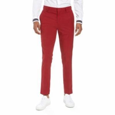 トップマン スラックス Skinny Fit Suit Trousers Red