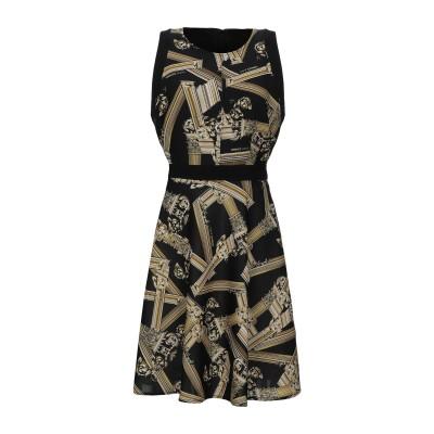 VERSACE ミニワンピース&ドレス ブラック 40 ポリエステル 100% / ポリウレタン ミニワンピース&ドレス