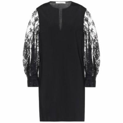 ジバンシー Givenchy レディース パーティードレス ワンピース・ドレス Lace-trimmed minidress Black