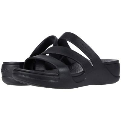 クロックス Crocs レディース サンダル・ミュール ウェッジソール シューズ・靴 Monterey Wedge Black