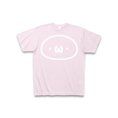 (・ω・)白インク Tシャツ Pure Color Print(ピーチ)
