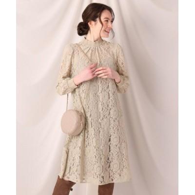 (Couture Brooch/クチュール ブローチ)フラワーレースクロシェワンピース/レディース ライトグリーン(021)