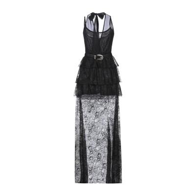 GIL SANTUCCI ロングワンピース&ドレス ブラック 40 ナイロン 80% / ポリエステル 20% ロングワンピース&ドレス