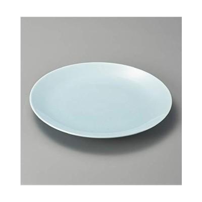 エールネット(Ale-net) 大皿 37cm 青地12.0丸皿 萬古焼