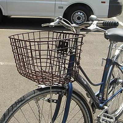 自転車用前かご ワイドタイプ GK-601 フロントバスケット